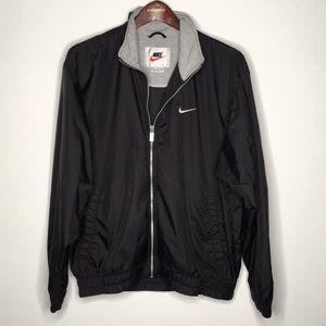 Nike Black Windbreaker Jacket Men's Size M